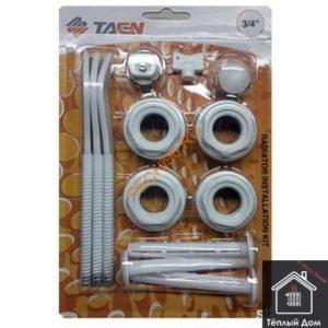 Комплект для радиатора 1*3/4 с 3 кронштейнами RK-807 TAEN (21)