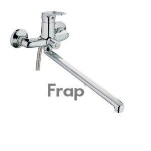 Смеситель FRAP ванна шар. 35мм прямой нос перек.душа в корпусе F2213
