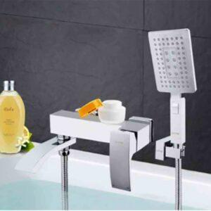 Смеситель FRAP ванна шар. 35мм c изливом G3207-8 белый/хром